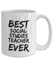 Load image into Gallery viewer, Social Studies Teacher Mug Best Ever Funny Gift Idea for Novelty Gag Coffee Tea Cup-[style]