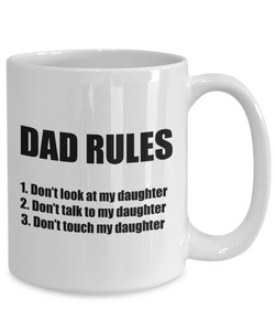 Dad Rules Mug From Daughter Funny Gift Idea for Novelty Gag Coffee Tea Cup-Coffee Mug