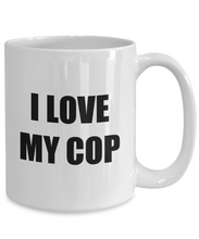Load image into Gallery viewer, I Love My Cop Mug Funny Gift Idea Novelty Gag Coffee Tea Cup-Coffee Mug