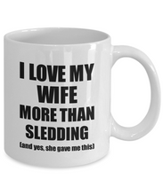 Load image into Gallery viewer, Sledding Husband Mug Funny Valentine Gift Idea For My Hubby Lover From Wife Coffee Tea Cup-Coffee Mug