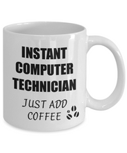 Load image into Gallery viewer, Computer Technician Mug Instant Just Add Coffee Funny Gift Idea for Corworker Present Workplace Joke Office Tea Cup-Coffee Mug