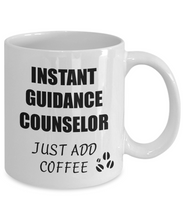 Load image into Gallery viewer, Guidance Counselor Mug Instant Just Add Coffee Funny Gift Idea for Corworker Present Workplace Joke Office Tea Cup-Coffee Mug