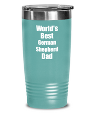 Load image into Gallery viewer, German Shepherd Dad Tumbler Worlds Best Dog Lover Funny Gift For Pet Owner Coffee Tea Insulated Cup With Lid-Tumbler