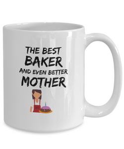 Baker Mom Mug Best Mother Funny Gift for Mama Novelty Gag Coffee Tea Cup-Coffee Mug