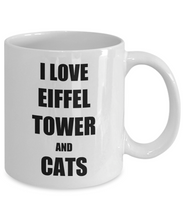 Load image into Gallery viewer, Cat Eiffel Tower Mug Funny Gift Idea for Novelty Gag Coffee Tea Cup-Coffee Mug