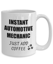 Load image into Gallery viewer, Automotive Mechanic Mug Instant Just Add Coffee Funny Gift Idea for Corworker Present Workplace Joke Office Tea Cup-Coffee Mug