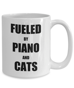 Cat Piano Mug Funny Gift Idea for Novelty Gag Coffee Tea Cup-Coffee Mug