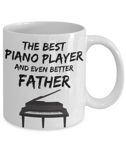 Load image into Gallery viewer, Piano Player Dad Mug - Best Pianist Father Ever - Funny Gift for Piano Lover Daddy-Coffee Mug