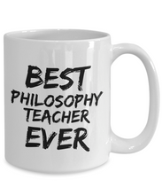 Load image into Gallery viewer, Philosophy Teacher Mug Best Professor Ever Funny Gift for Coworkers Novelty Gag Coffee Tea Cup-Coffee Mug