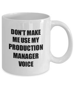 Production Manager Mug Coworker Gift Idea Funny Gag For Job Coffee Tea Cup-Coffee Mug