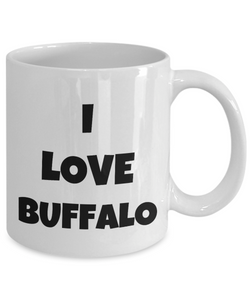 I Love Buffalo Mug Funny Gift Idea Novelty Gag Coffee Tea Cup-Coffee Mug