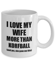 Load image into Gallery viewer, Korfball Husband Mug Funny Valentine Gift Idea For My Hubby Lover From Wife Coffee Tea Cup-Coffee Mug