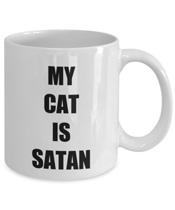 Cat Satan Mug Funny Gift Idea for Novelty Gag Coffee Tea Cup-Coffee Mug