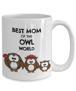 Owl Mom Mug Cute Owl Lover Mother Gift Idea from Child Daughter Coffee Tea Cup-Coffee Mug