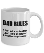Load image into Gallery viewer, Dad Rules Mug From Daughter Funny Gift Idea for Novelty Gag Coffee Tea Cup-Coffee Mug