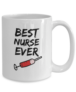 Nurse Mug - Best Nurse Ever - Funny Gift for Nurse-Coffee Mug