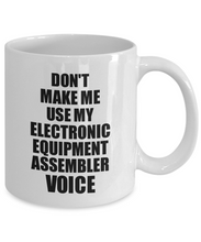 Load image into Gallery viewer, Electronic Equipment Assembler Mug Coworker Gift Idea Funny Gag For Job Coffee Tea Cup Voice-Coffee Mug