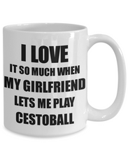 Load image into Gallery viewer, Cestoball Mug Funny Gift Idea For Boyfriend I Love It When My Girlfriend Lets Me Novelty Gag Sport Lover Joke Coffee Tea Cup-Coffee Mug