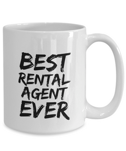 Rental Agent Mug Best Ever Funny Gift for Coworkers Novelty Gag Coffee Tea Cup-Coffee Mug