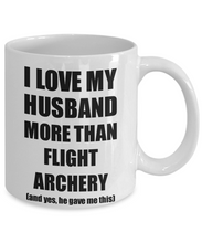 Load image into Gallery viewer, Flight Archery Wife Mug Funny Valentine Gift Idea For My Spouse Lover From Husband Coffee Tea Cup-Coffee Mug