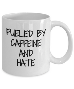 Caffeine And Hate Mug Coffee Tea Cup Funny Gift Idea For Novelty Gag-Coffee Mug