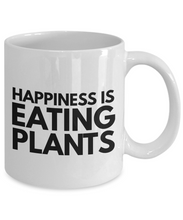 Load image into Gallery viewer, Happiness is eating plants funny mug for vegan-Coffee Mug