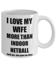 Load image into Gallery viewer, Indoor Netball Husband Mug Funny Valentine Gift Idea For My Hubby Lover From Wife Coffee Tea Cup-Coffee Mug