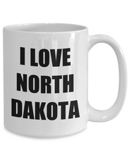 Load image into Gallery viewer, I Love North Dakota Coffee Mug Funny Gift Idea Novelty Gag Coffee Tea Cup-Coffee Mug