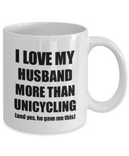 Load image into Gallery viewer, Unicycling Wife Mug Funny Valentine Gift Idea For My Spouse Lover From Husband Coffee Tea Cup-Coffee Mug