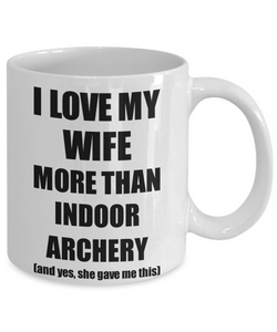 Indoor Archery Husband Mug Funny Valentine Gift Idea For My Hubby Lover From Wife Coffee Tea Cup-Coffee Mug