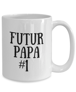 Cadeau Futur Papa Pour New Dad Mug In French Funny Gift Idea for Novelty Gag Coffee Tea Cup-Coffee Mug