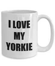 Load image into Gallery viewer, I Love My Yorkie Mug Funny Gift Idea Novelty Gag Coffee Tea Cup-Coffee Mug