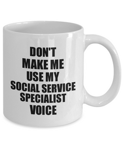 Social Service Specialist Mug Coworker Gift Idea Funny Gag For Job Coffee Tea Cup Voice-Coffee Mug