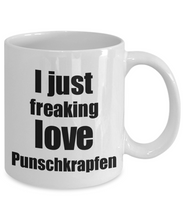 Load image into Gallery viewer, Punschkrapfen Lover Mug I Just Freaking Love Funny Gift Idea For Foodie Coffee Tea Cup-Coffee Mug