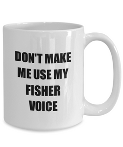Fisher Mug Coworker Gift Idea Funny Gag For Job Coffee Tea Cup-Coffee Mug