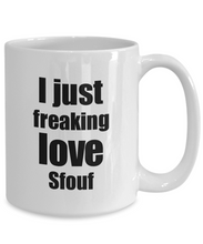 Load image into Gallery viewer, Sfouf Lover Mug I Just Freaking Love Funny Gift Idea For Foodie Coffee Tea Cup-Coffee Mug