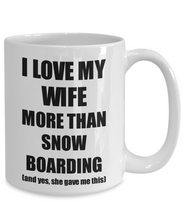 Load image into Gallery viewer, Snow Boarding Husband Mug Funny Valentine Gift Idea For My Hubby Lover From Wife Coffee Tea Cup-Coffee Mug
