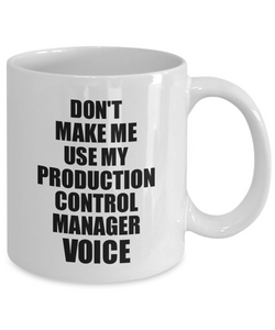 Production Control Manager Mug Coworker Gift Idea Funny Gag For Job Coffee Tea Cup Voice-Coffee Mug