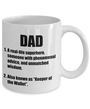 Load image into Gallery viewer, Dad Definition Mug Funny Gift Idea for Novelty Gag Coffee Tea Cup-Coffee Mug