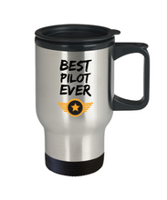 Load image into Gallery viewer, Pilot Travel Mug Best Airline Army Jet Ever Funny Gift for Coworkers Novelty Gag Car Coffee Tea Cup 14oz Stainless Steel-Travel Mug