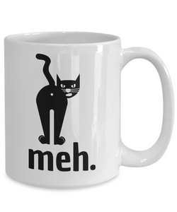 Meh Cat Butthole Mug Funny Gift Idea for Novelty Gag Coffee Tea Cup-Coffee Mug