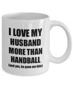 Handball Wife Mug Funny Valentine Gift Idea For My Spouse Lover From Husband Coffee Tea Cup-Coffee Mug
