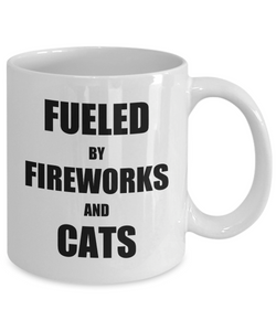 Cat Fireworks Mug Funny Gift Idea for Novelty Gag Coffee Tea Cup-Coffee Mug