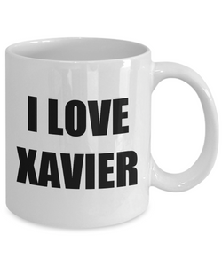 I Love Xavier Mug Funny Gift Idea Novelty Gag Coffee Tea Cup-[style]