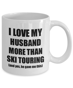 Ski Touring Wife Mug Funny Valentine Gift Idea For My Spouse Lover From Husband Coffee Tea Cup-Coffee Mug