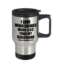 Load image into Gallery viewer, Wind Chimes Boyfriend Travel Mug Funny Valentine Gift Idea For My Bf From Girlfriend I Love Coffee Tea 14 oz Insulated Lid Commuter-Travel Mug