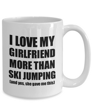 Load image into Gallery viewer, Ski Jumping Boyfriend Mug Funny Valentine Gift Idea For My Bf Lover From Girlfriend Coffee Tea Cup-Coffee Mug
