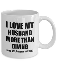 Load image into Gallery viewer, Diving Wife Mug Funny Valentine Gift Idea For My Spouse Lover From Husband Coffee Tea Cup-Coffee Mug