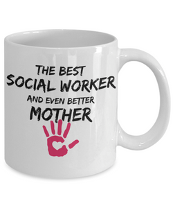 Social Worker Mom Mug Best Mother Funny Gift for Mama Novelty Gag Coffee Tea Cup-Coffee Mug
