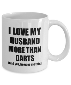 Darts Wife Mug Funny Valentine Gift Idea For My Spouse Lover From Husband Coffee Tea Cup-Coffee Mug